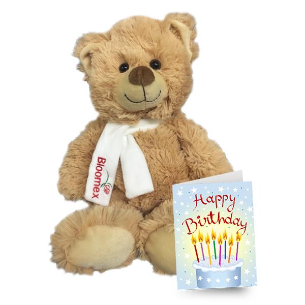 Birthday Card & Teddy buy at Florist