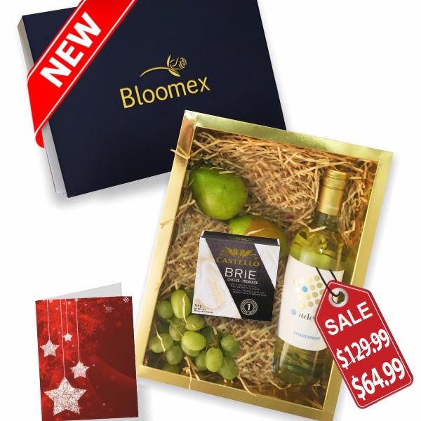 Fruit, Cheese & White Wine Gift Box buy at Florist