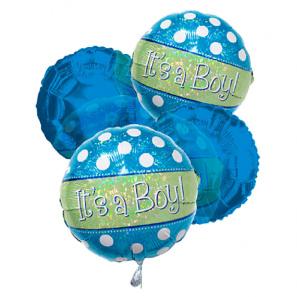 """It's a Boy"" Balloon Bouquet (4)"