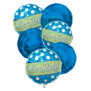 """It's a Boy"" Balloon Bouquet (6)"