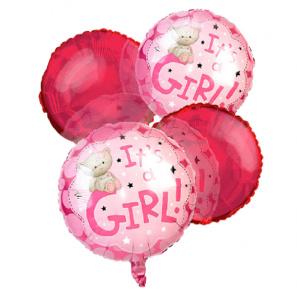 """""""It's a Girl"""" Balloon Bouquet (4)"""