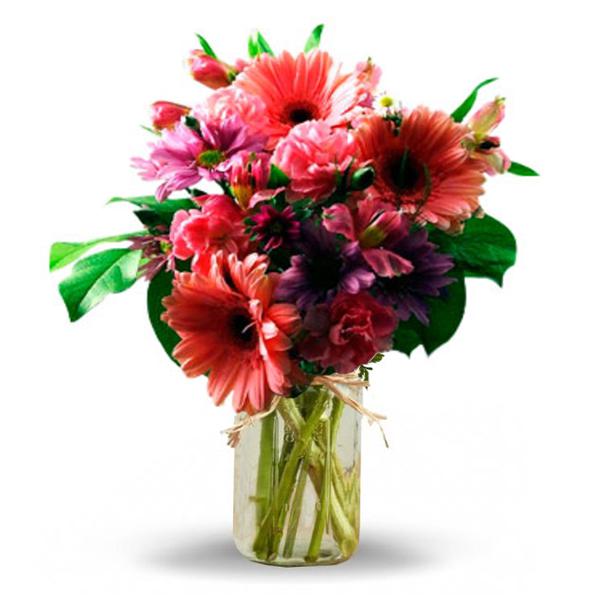Shades of Pink in Mason Jar buy at Florist