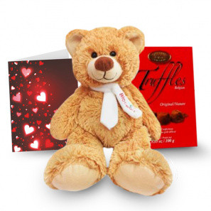 Truffles, Teddy & Card buy at Florist