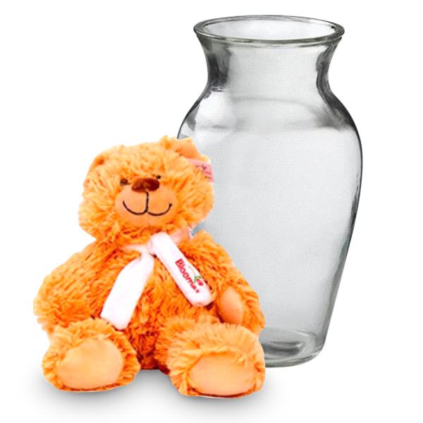 Vase & Teddy buy at Florist