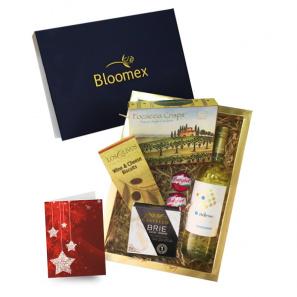 White Wine Cheese & Crackers Gift Box